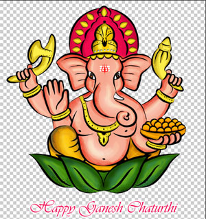 Illustration of Ganapathi png Happy Ganesh Chaturthi wishes png